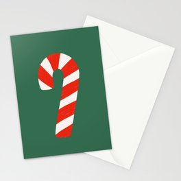 Candy Canes - Green Stationery Cards