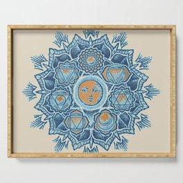 Alyson Anahata Seven Chakra Sun Flower Mandala 1 Serving Tray