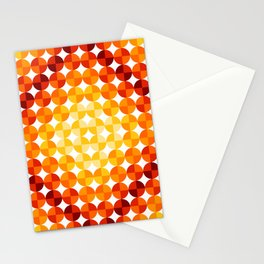 Circle Shine (Red) Stationery Cards