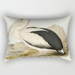 Pied oyster-catcher from Birds of America (1827) by John James Audubon etched by William Home Lizars Rectangular Pillow
