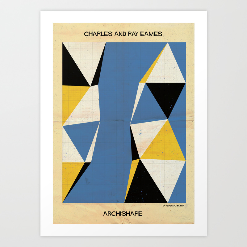 Shape Charles And Ray Eames Art Print by Federicobabina PRN2932814