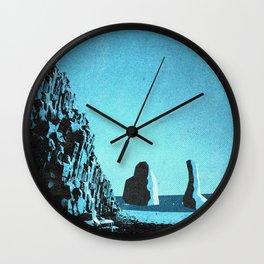 Iceland's Reynisfjara: Black Sand Beach Wall Clock