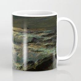 The Longships Light nautical landscape painting by Julius Olsson Coffee Mug