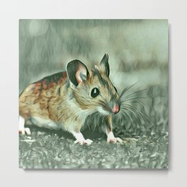 popular Animals - Mouse Metal Print