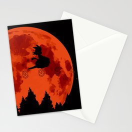 The Moon on Dragon Ball - Black Orange Stationery Cards
