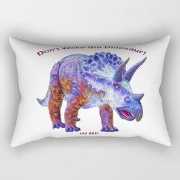 Don't Wake the Dinosaur! Rectangular Pillow