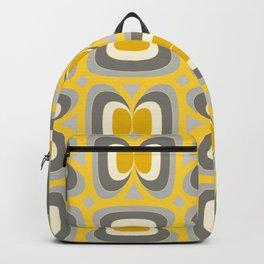 Midcentury Yellow&Grey Backpack