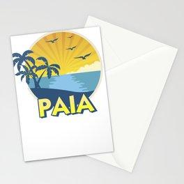 Vintage Paia Maui Shirt, Island Surfing 70s Retro Stationery Cards