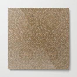 Moroccan Style Pattern Mandala Gold Sand Metal Print