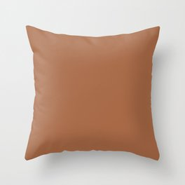 NOW MAPLE GLAZE Brown solid color Throw Pillow