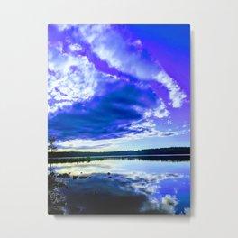 Sunset over lake Pocono Summit, PA Metal Print