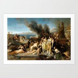Tony Robert-Fleury - The Last Day of Corinth Art Print