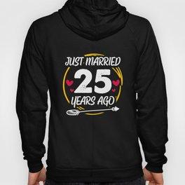 25th 25 year Wedding Anniversary Gift Married Husband Wife print Hoody