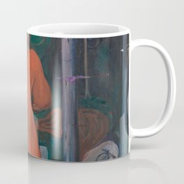 Edvard Munch - Red and White Coffee Mug