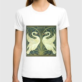 "Walter Crane ""Swan and Rush and Iris wallpaper"" (original) T-shirt"