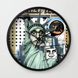 COLLAGE: Woody & NY Wall Clock
