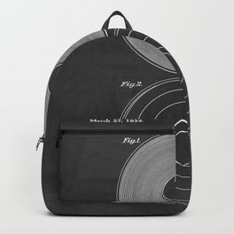 Phonograph Record Vintage Patent Backpack