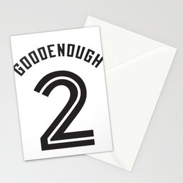 Goodenough Number 2 is Good Enough Baseball Football Sports design Stationery Cards