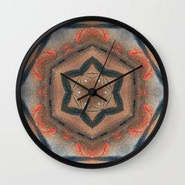 Bushfire Gum Medallion 14 Wall Clock