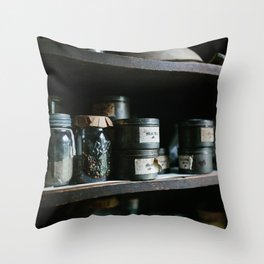 Vintage Pantry & Spices II Throw Pillow