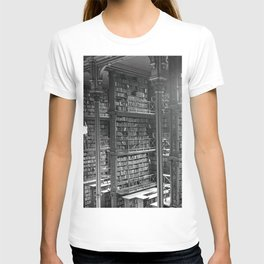 A Book Lover's Dream - Cast-iron Book Alcoves of Leather bound books Old Cincinnati Public Library T-shirt