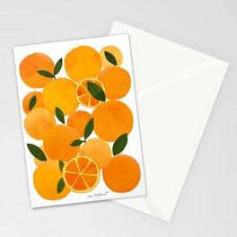 mediterranean oranges still life  Stationery Cards