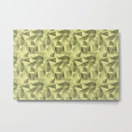 Abstract Geometrical Triangle Patterns 3 VA Lime Green - Lime Mousse - Bright Cactus Green - Celery Metal Print