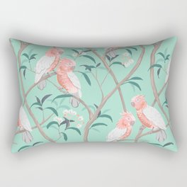 Galah Tropical Birds in Flowering Gumtrees - Australian Wildlife Rectangular Pillow