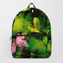Tropical flowers,plants pattern  Backpack