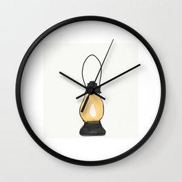 Indian Lantern Lamp | Minimalist doodles Art Wall Clock