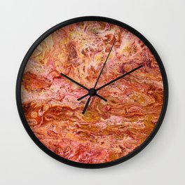 SoapsAndRoses.ART: Fluid Lava Wall Clock