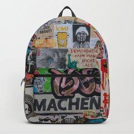 Sticker and graffiti wall background 2 - Berlin street art photography Backpack