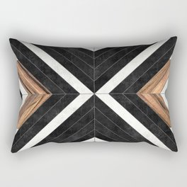Urban Tribal Pattern No.1 - Concrete and Wood Rectangular Pillow