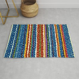 African American Masterpiece 'Light Blue Nursery'' by Alma Thomas Rug