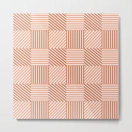 Four types of striped pattern  Metal Print
