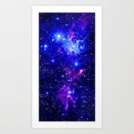 Fox Fur Nebula Galaxy blue purple Art Print
