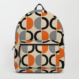 Mid Century Half Circle Pattern 121 Backpack