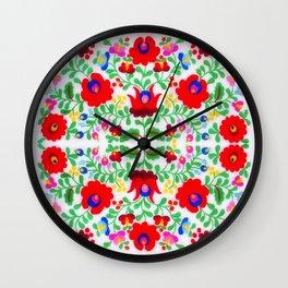 Hungarian Kalocsa 1 Wall Clock