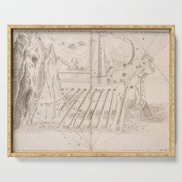 Johann Bayer - Uranometria / Measuring the Heavens (1661) - 38 Argo Navis Serving Tray