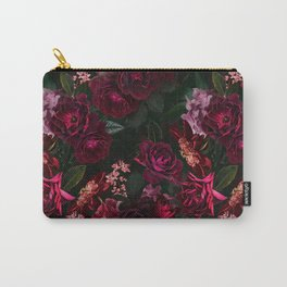 Vintage & Shabby Chic - Night Botanical Flower Roses Garden Carry-All Pouch