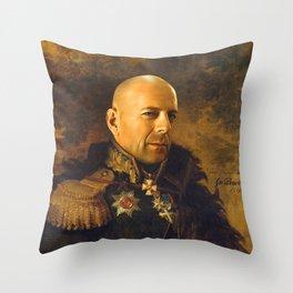 Bruce Willis - replaceface Throw Pillow