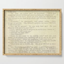 Jane Eyre, Mr. Rochester Proposal by Charlotte Bronte Serving Tray