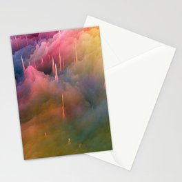 Snow Cone Drizzled With Cotton Candy Syrup Stationery Cards