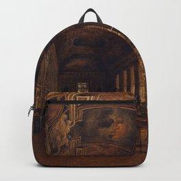 Victor Duval - Interieur de la galerie d'Apollon au Louvre Backpack