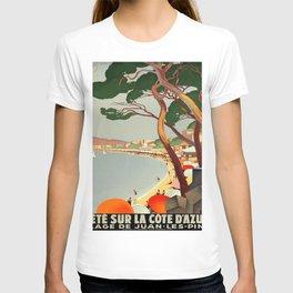 Vintage poster - Cote D'Azur, France T-Shirt
