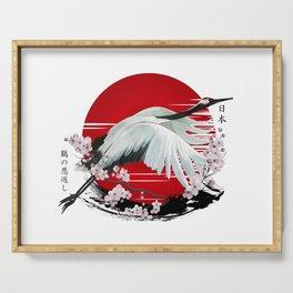 Japanese Crane Tsuru Serving Tray