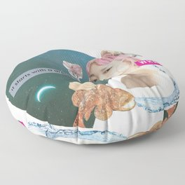 Pisces Intuitive Collage Floor Pillow