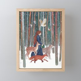 Through the Forest Framed Mini Art Print