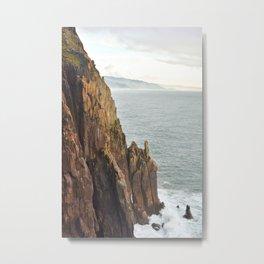 Lower Neahkahnie Mountain Ocean Spires, Oregon Coast Landscape Metal Print