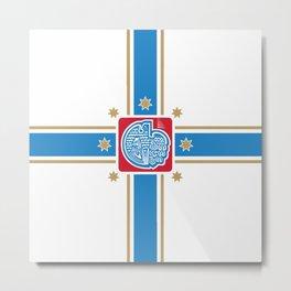 flag of Tbilisi Metal Print